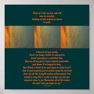 Diseño-Poema de la puesta del sol Poster-por mí Póster