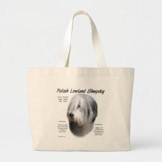 Diseño polaco de la historia del perro pastor de l bolsas