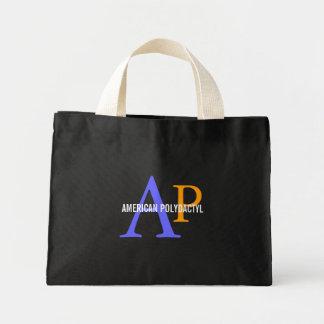 Diseño polidáctilo americano del monograma bolsas de mano