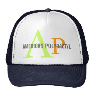 Diseño polidáctilo americano del monograma gorros bordados
