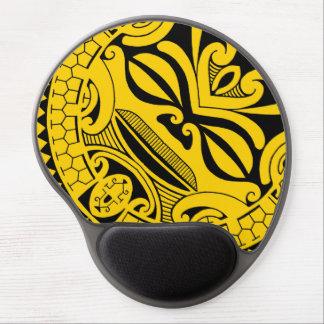 Diseño polinesio de la máscara del tiki alfombrilla de ratón con gel