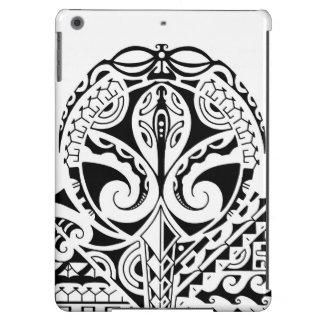 Diseño polinesio del tatuaje de la máscara funda para iPad air