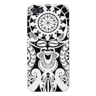 Diseño polinesio del tatuaje del lagarto y de la m iPhone 5 carcasa