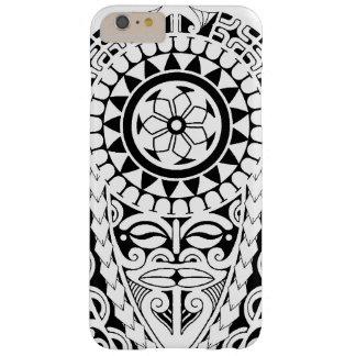 Diseño polinesio del tatuaje del sol y de la funda de iPhone 6 plus barely there