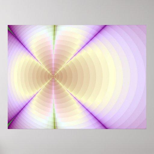 Diseño poner crema del arte gráfico del fractal de póster