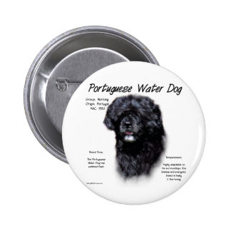 Diseño portugués de la historia del perro de agua pins