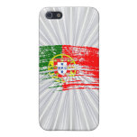 Diseño portugués fresco de la bandera iPhone 5 funda