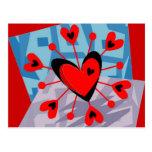 Diseño Postal-Abstracto del corazón