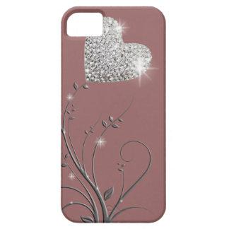 Diseño precioso brillante del corazón iPhone 5 fundas