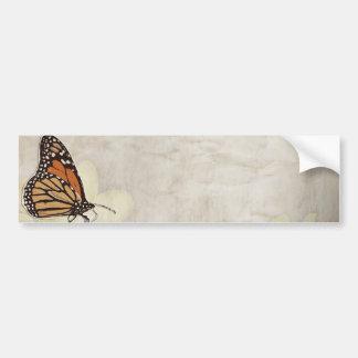 diseño precioso de los butterlies del monarca etiqueta de parachoque