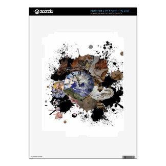 Diseño prehistórico del tiempo iPad 3 skin