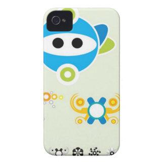 Diseño principal de Dingbats de la diversión Carcasa Para iPhone 4