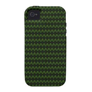 Diseño principal extranjero verde de neón Case-Mate iPhone 4 carcasas