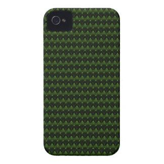 Diseño principal extranjero verde de neón iPhone 4 protectores