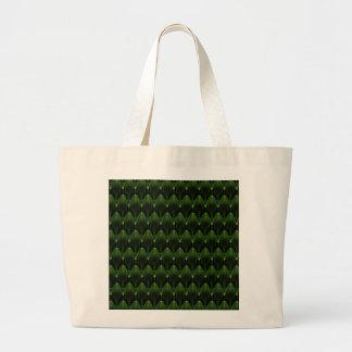 Diseño principal extranjero verde de neón grande bolsas de mano