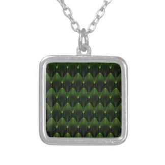 Diseño principal extranjero verde de neón grande colgante cuadrado