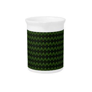 Diseño principal extranjero verde de neón jarras de beber