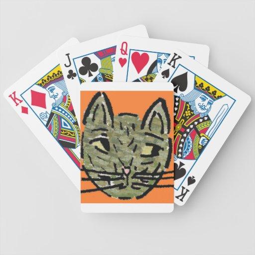 diseño prudente del gato baraja de cartas