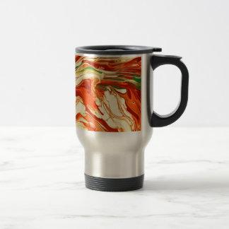 Diseño psicodélico colorido del remolino taza térmica