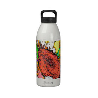 Diseño psicodélico de Moonflower Botella De Agua