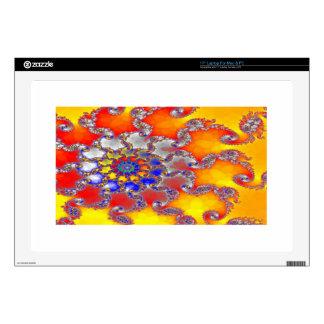 Diseño psicodélico del remolino del fractal en calcomanía para portátil