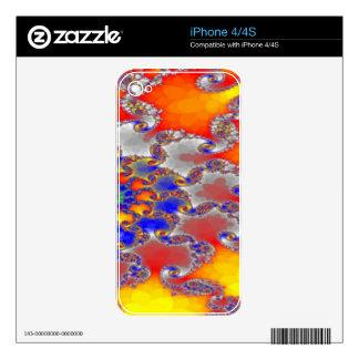 Diseño psicodélico del remolino del fractal en skin para el iPhone 4S