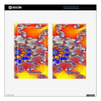 Diseño psicodélico del remolino del fractal en skin para kindle fire