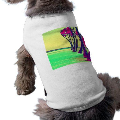 diseño psicodélico enrrollado de la playa playera sin mangas para perro