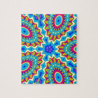 Diseño psicodélico - muy colorido puzzles