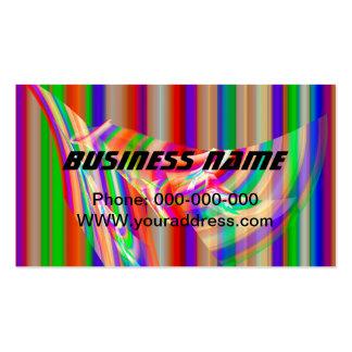 Diseño psicodélico rayado colorido de la llama del tarjetas de visita