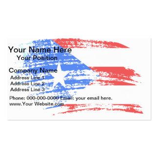 Diseño puertorriqueño fresco de la bandera tarjetas de visita