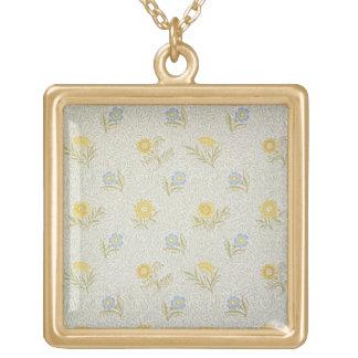 Diseño pulverizado del papel pintado, 1874 collar dorado