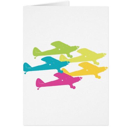 Diseño punky del avión del apoyo de los aeroplanos tarjeta de felicitación