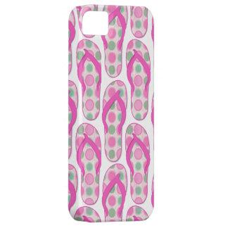 Diseño punteado polca rosada del flip-flop iPhone 5 carcasa