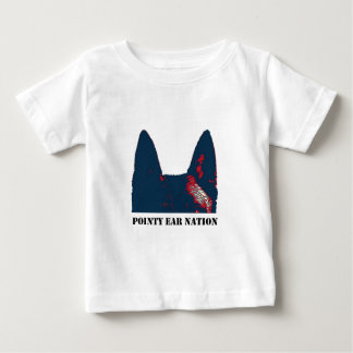 Diseño puntiagudo de la nación del oído playera para bebé