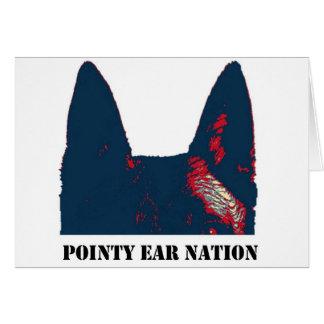 Diseño puntiagudo de la nación del oído tarjeta de felicitación