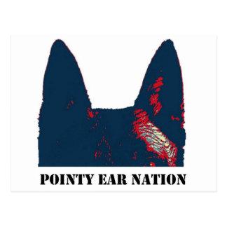 Diseño puntiagudo de la nación del oído tarjeta postal
