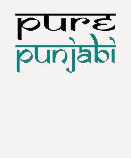 Diseño puro de la camiseta del punjabi playeras