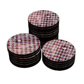 Diseño púrpura de Argyle del vintage Juego De Fichas De Póquer