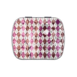 Diseño púrpura de Argyle del vintage Latas De Caramelos