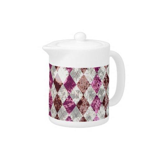 Diseño púrpura de Argyle del vintage