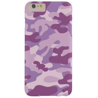 Diseño púrpura de Camo Funda Para iPhone 6 Plus Barely There