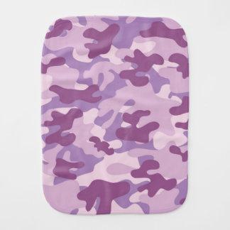 Diseño púrpura de Camo Paños Para Bebé