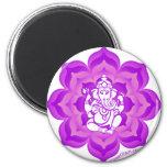 Diseño púrpura de Ganesh Iman De Frigorífico