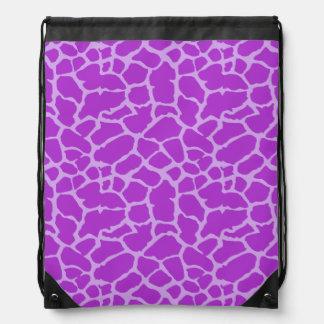 Diseño púrpura de la lavanda del estampado de anim mochila