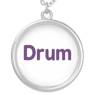 diseño púrpura de la música del texto del tambor colgante redondo