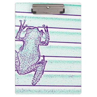 diseño púrpura de la rana verde en rayas