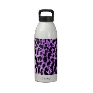 Diseño púrpura de la tela del estampado de animale botella de beber