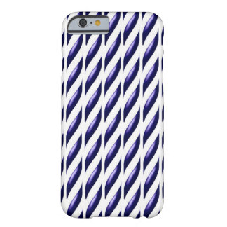Diseño púrpura de las pisadas funda para iPhone 6 barely there
