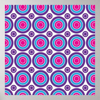 Diseño púrpura de los círculos concéntricos del tr póster